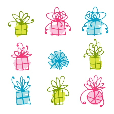 Gift box icons for your design Stock Vector - 9478423
