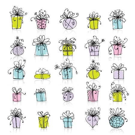 25 gift box icons for your design Stock Vector - 9478451