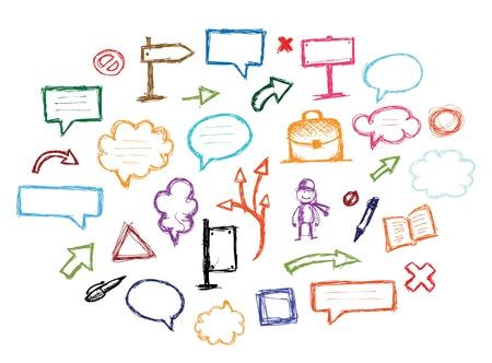 speech bubble: Ensemble de fl�ches et de cadres pour votre conception