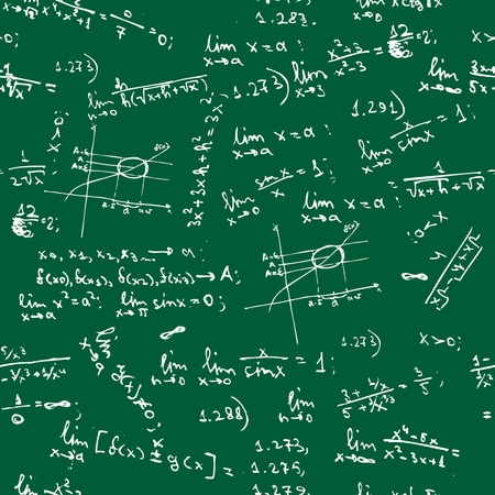 Seamless background with math formulas on blackboard Vector