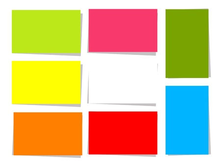 Set of colorful cards for your design with place for your text Stock Vector - 9778093