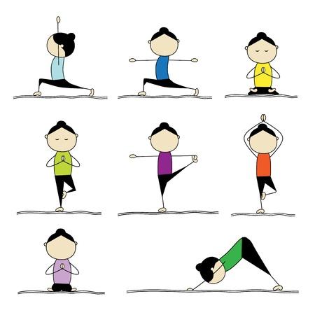 animal practice: Practicar yoga de mujer