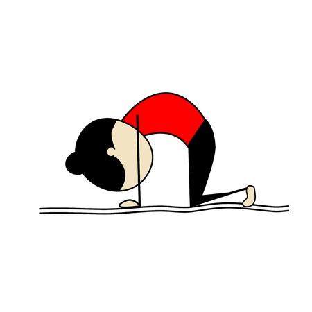 action girl: Woman practicing yoga Illustration