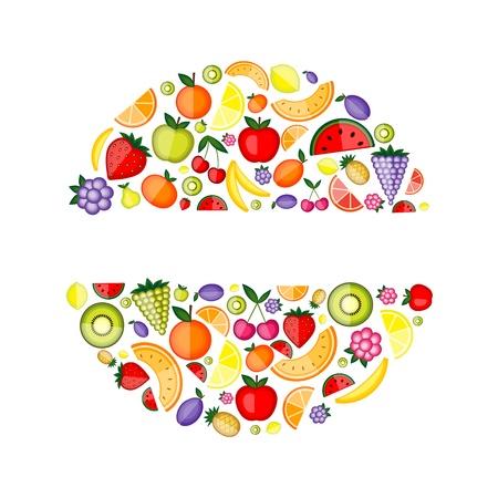 moras: Frutas de energ�a, marco para el dise�o  Vectores