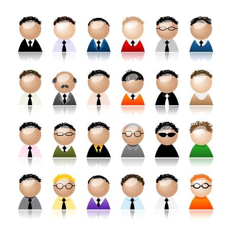 r�le: Set d'hommes d'affaires peuples ic�nes, dessins anim�s pour votre design