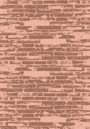 stone work: Muro de ladrillo rojo para el dise�o Vectores