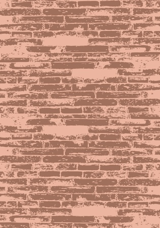 stone wall: Red brick wall for your design Illustration
