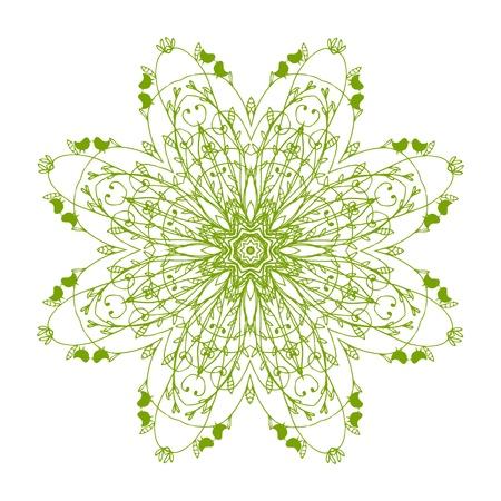 keltische muster: Arabesque Zierde für Ihr Design Illustration