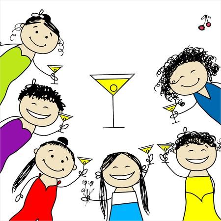 Hen party! Amigos divertidos para el diseño