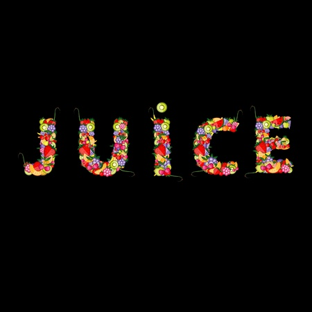 Fruit juice for your design Vector