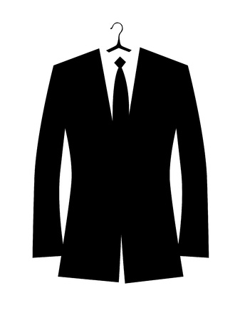 coat and tie: Man Illustration