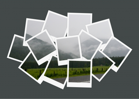 snapshot: Landscape, collage of photos for your design