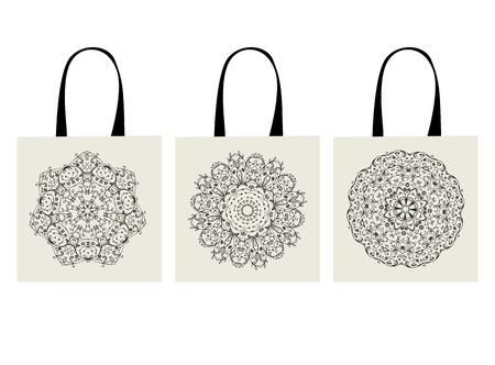 Shopping bag, arabesque ornament for your design  Vector
