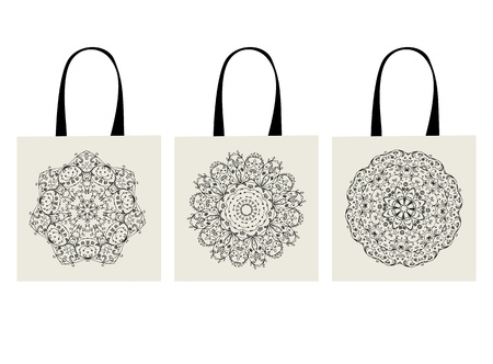 contain: Shopping bag, arabesque ornament for your design
