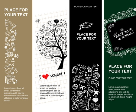 School banners design with place for your text Vector