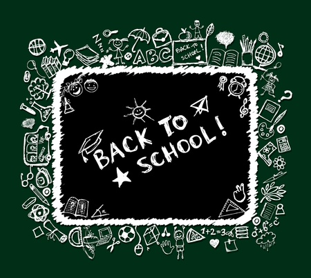 subjects: Back to school, sketch frame for your design
