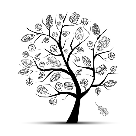 Art tree beautiful for your design  Vector