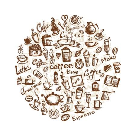 coffee beans: Tiempo de caf�, elementos de dise�o
