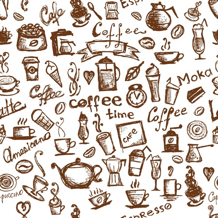 Coffee time, seamless background for your design Stock Vector - 10407411