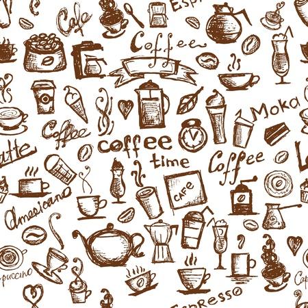 vintage cafe: Tempo caff�, sfondo senza soluzione di continuit� per il vostro disegno