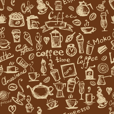 Coffee time, seamless background for your design Stock Vector - 10407419