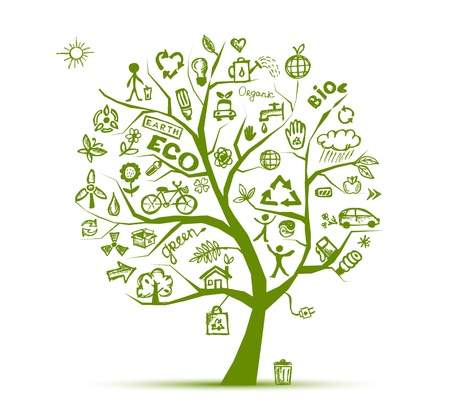 environmental protection: Green ecology tree concept for your design