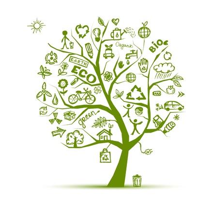 Vert notion d'arbre écologie pour la conception de votre