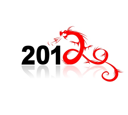 2012 year of dragon, illustration for your design Stock Vector - 10723984