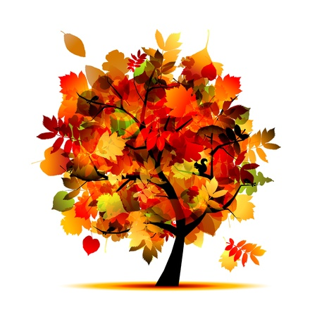 autumn trees: Beautiful autumn tree for your design  Illustration