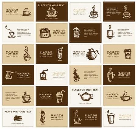 Diseño de tarjetas de presentación para empresa de café