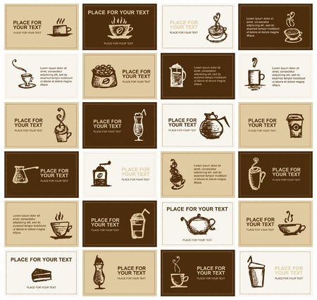 manos logo: Dise�o de tarjetas de presentaci�n para empresa de caf� Vectores