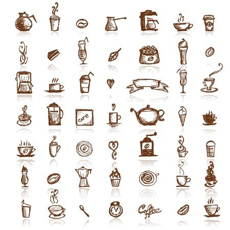 granos de cafe: Elementos de dise�o para la compa��a de caf�