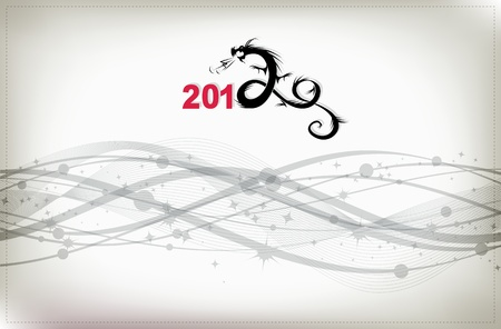 2012 year of dragon, celebration background for your design Vector