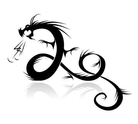 Dragon tattoo vector illustration for your design Stock Vector - 10723992