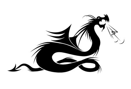 Dragon tattoo vector illustration for your design Vector