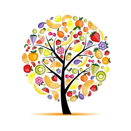 Energie-fruitboom voor uw ontwerp Stock Illustratie
