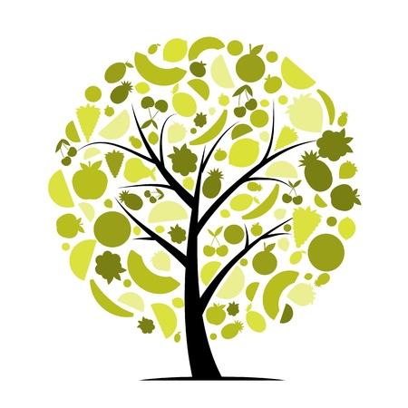Árbol frutal de energía para el diseño