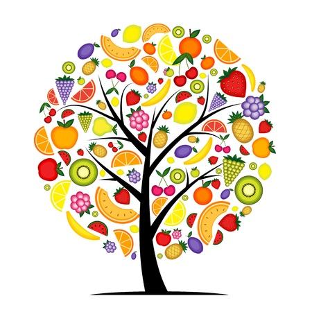 Energie-fruitboom voor uw ontwerp