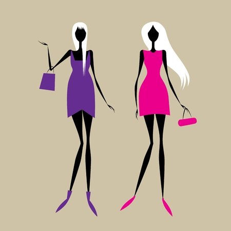 Fashion girls for your design Vector