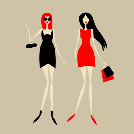 glamour shopping: Fashion girls for your design