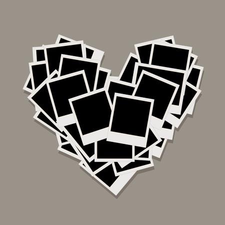 anniversario matrimonio: Forma di cuore fatto da cornici, inserire le tue foto