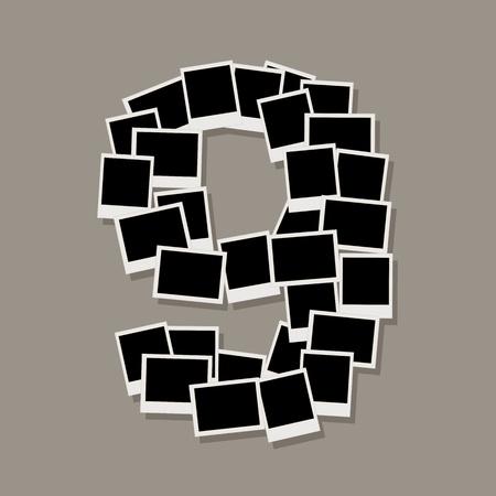 number nine: N�mero nueve, a partir de marcos de fotos, insertar las fotos