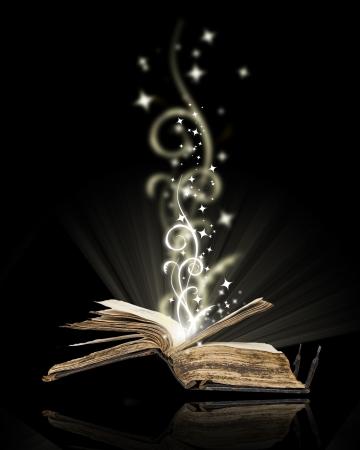 art book: Libro abierto magia en negro