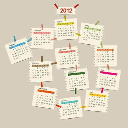 Vector calendar 2012 for your design Vector
