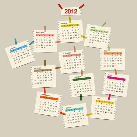Vector calendar 2012 for your design Vector