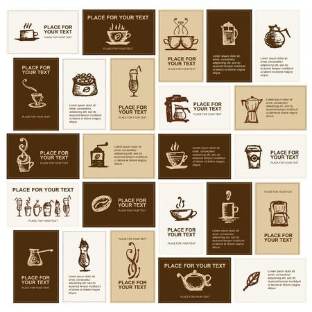 tasse caf�: Conception de cartes de visite pour coffee company