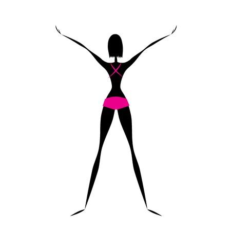 yoga pants: Fitness girl doing exercises