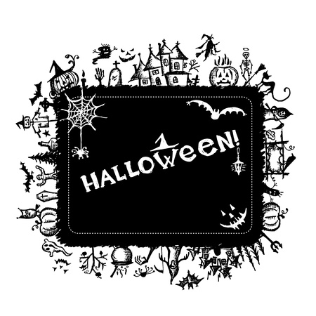 Halloween frame for your design Vector
