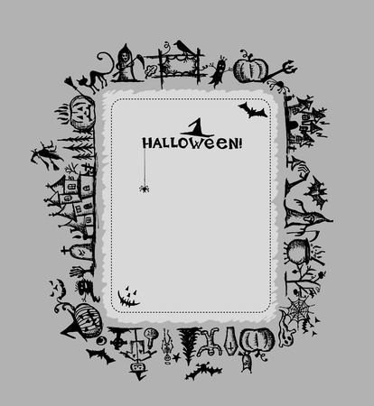 tomb empty: Halloween frame for your design