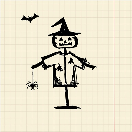 Halloween night symbol for your design Vector